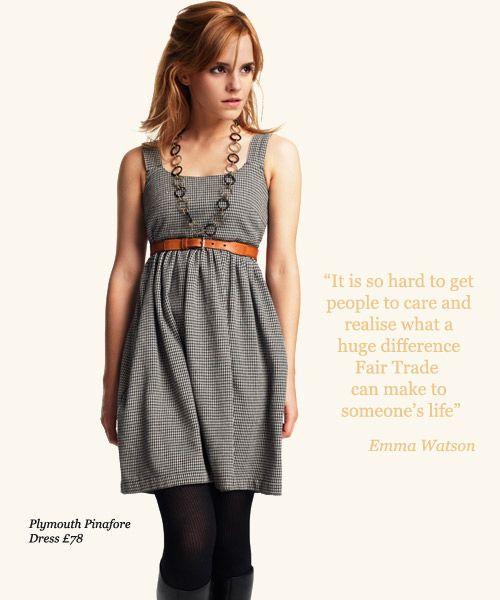 Fashionable Fair Trade!  Emma Watson for People Tree - Fair Trade and Organic Fashion! #fashiontakesaction