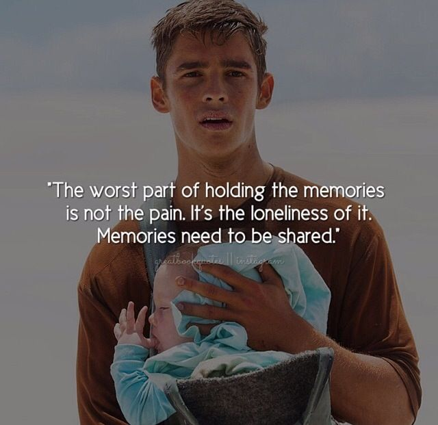 Book Quote ~ Book: The Giver, By Lois Lowry