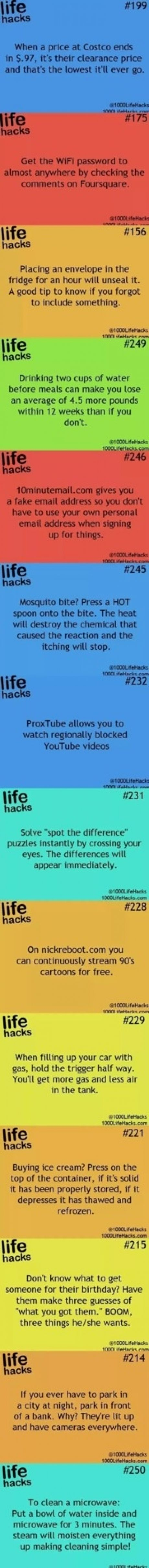Life hacks. Some of these are genius!