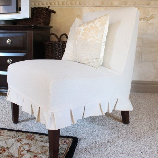 Update Chairs With A Fresh New Look Slipcovering Armless Is Easier Than You Think Decor Ideas Pinterest Slipcovers Chair And