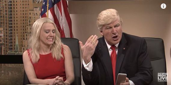 SNL mocks Trump's Twitter obsession Trump tweets distaste     - CNET Technically Incorrect offers a slightly twisted take on the tech thats taken over our lives.  Enlarge Image  Things arent looking too good. Photo by                                            SNL/YouTube screenshot by Chris Matyszczyk/CNET                                          My brain is bad.   This is how Donald Trump explains his penchant for retweeting random Twitterers who take his fancy.  You see its not that he…