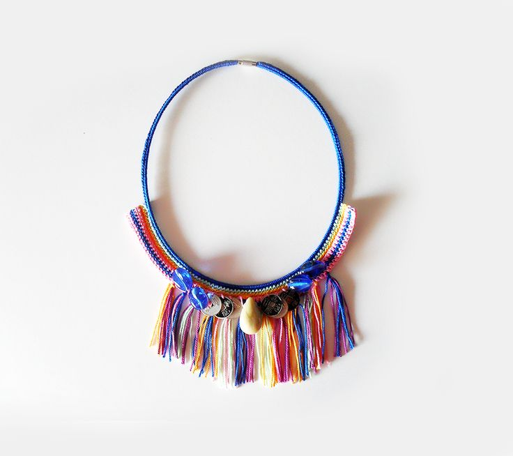 Fringes necklace #boho #boheme