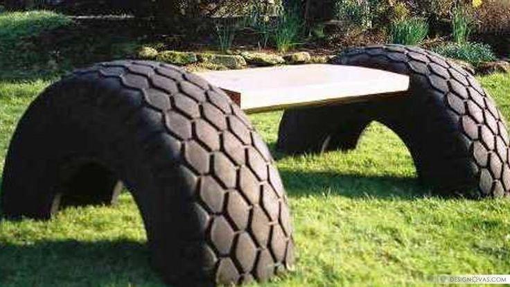 50+ полезных поделок из старых шин |  #покрышки #шины Красота