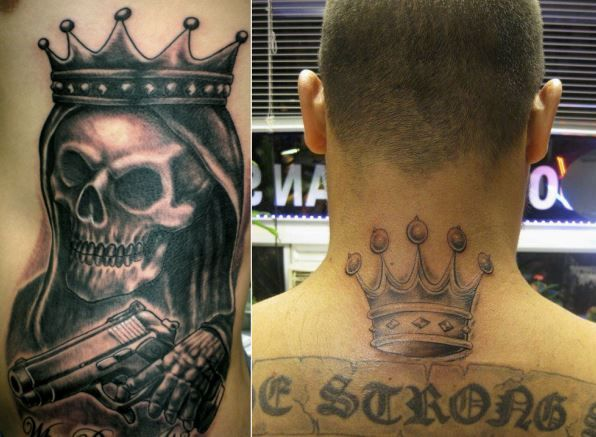 160 best images about gang prison tattoos gangsters and for Latin kings crown tattoo