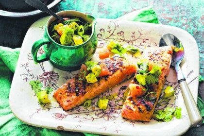 Salmon with avocado salsa recipe | Recipes | Pinterest | Salsa Recipe ...