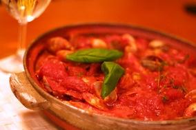 〆はリゾットで。「土鍋で作るアクアパッツア」|レシピブログ