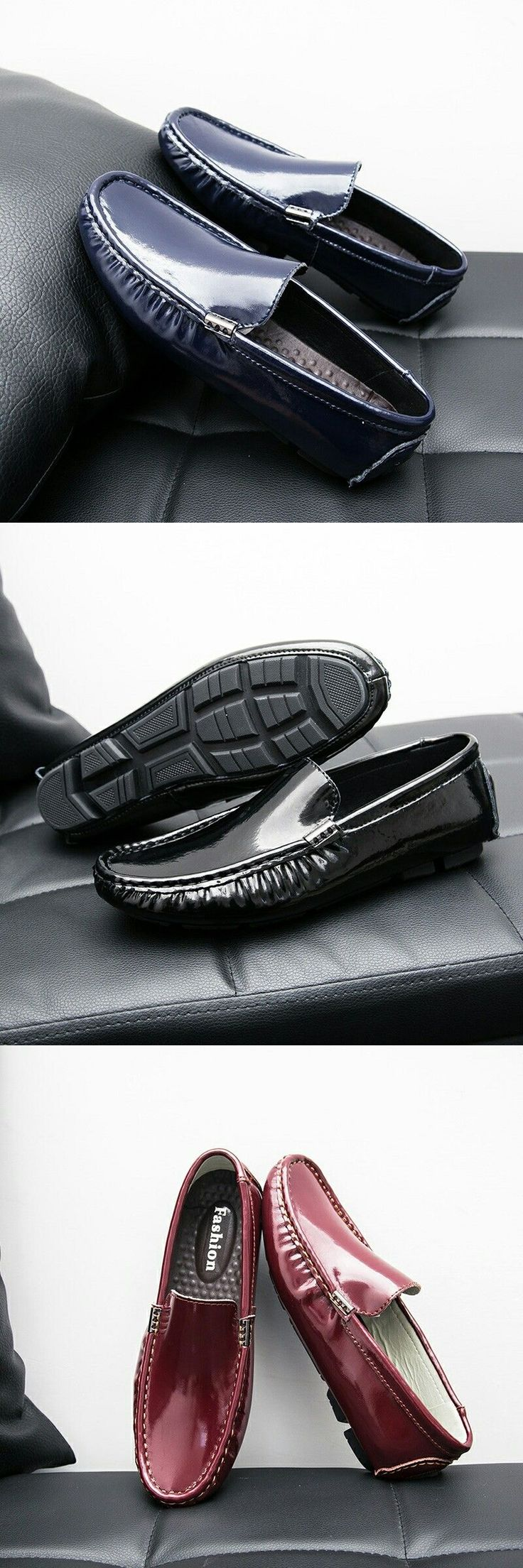US $ Prelesty Simple Men's Shoes Loafers Patent Leather Casual Shoes Breathable Slip On… - http://sorihe.com/mensshoes/2018/02/24/us-prelesty-simple-mens-shoes-loafers-patent-leather-casual-shoes-breathable-slip-on-3/