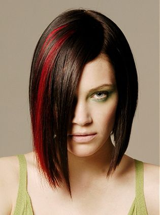 colorHair Colors Ideas, Red Hair, Bobs Hairstyles, Haircolor, Hair Style, Funky Hair, Brown Hair, Red Streaks, Red Highlights