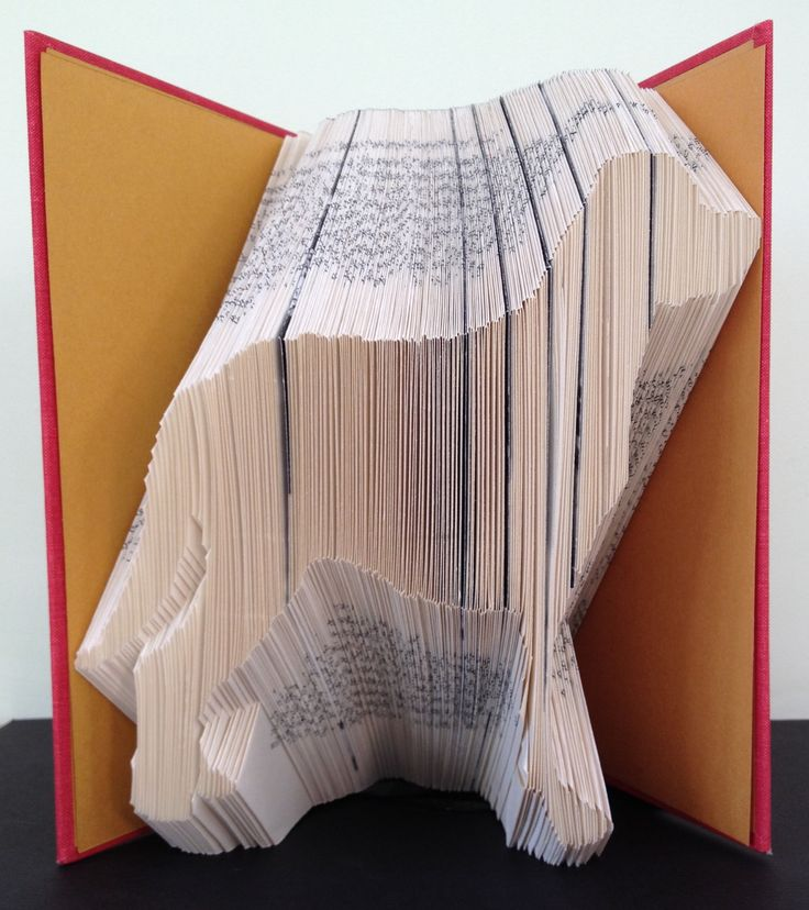 Mountain Dog Book Folding Pattern. DIY template with 294 folds/588 pages. Full instructions included. No measuring required by LooksInviting on Etsy