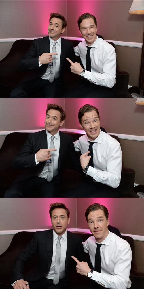 RDJ & BC This photo set brings together my two great loves. Pretty sure I can die happy now.