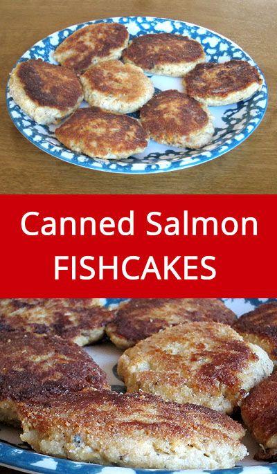 Easy Canned Salmon Fish Cakes Recipe | MelanieCooks.com