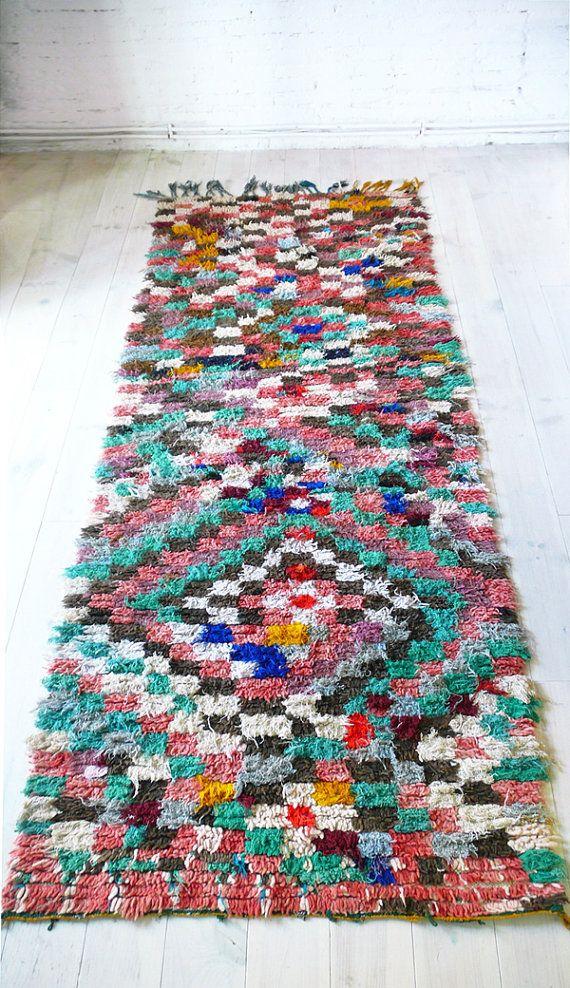vintage moroccan rag rug runner por u20ac17500