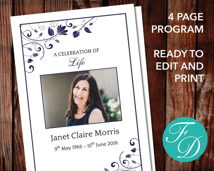 246 best Funeral Programs for Women Programs \ Prayer Cards - funeral program template microsoft