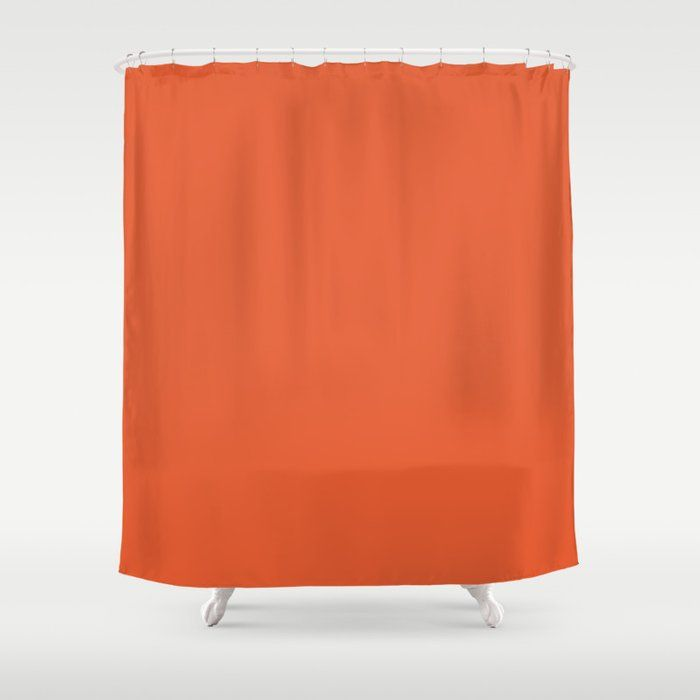 Burnt Orange Solid Shower Curtain By Kierkegaart Society6 Solid Color Shower Curtain Coral Shower Curtains Orange Shower Curtain