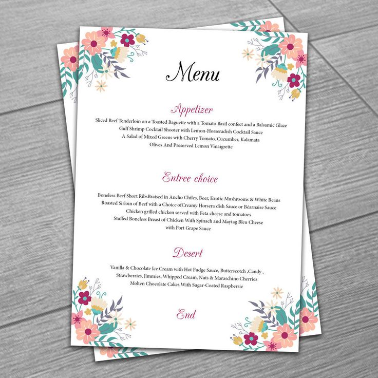 Menu Templates Microsoft Word Professional Resume Template Instant