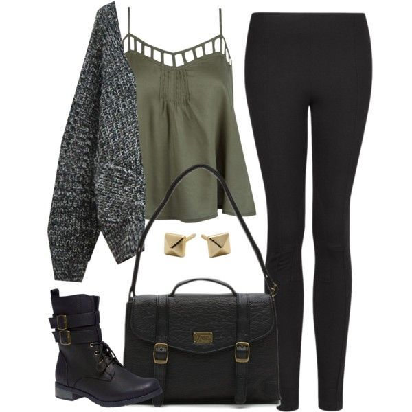 Edgy Hanna Marin inspired outfit with black leggings: