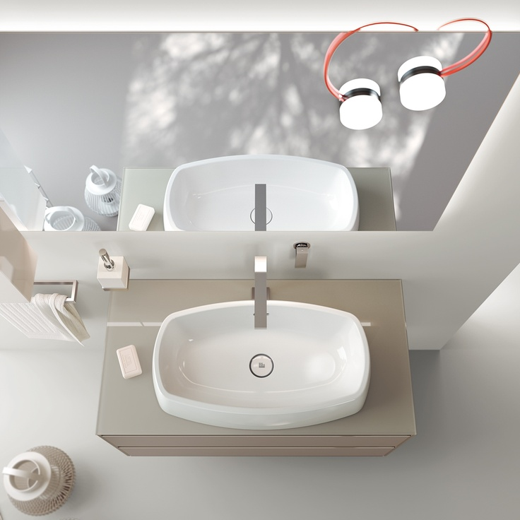 Something is changing in the #bathrooms world |  #design for #mirror  #lamps & #washbasin |