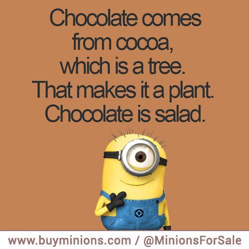 Chocolate is salad!
