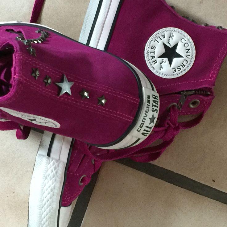 Converse ChuckTaylor Pink, Leder, Reißverschluss an beiden Seiten  Hammer!!!  Und meine