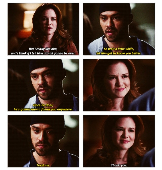 Jackson and April. I wish they would end up together