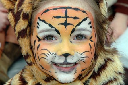 Face Paint Designs for Boys | Tiger Faces, Monsters, Robots by Budding Stars Professional Face Painters | Surrey M25 (Tadworth, Kingswood, R...
