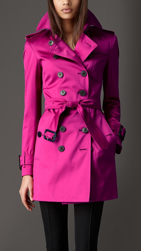 Burberry hot pink trench coat..yes please..