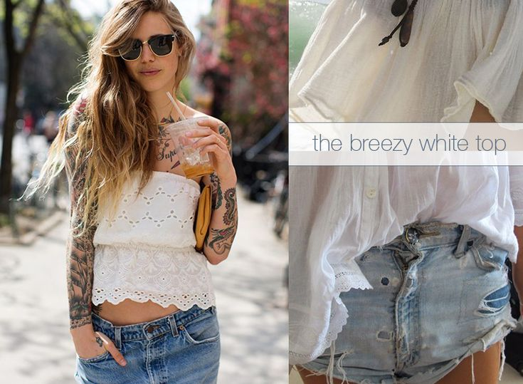 the breezy white top
