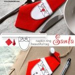 Santa+–+napkin+ring+and+beautiful+tag