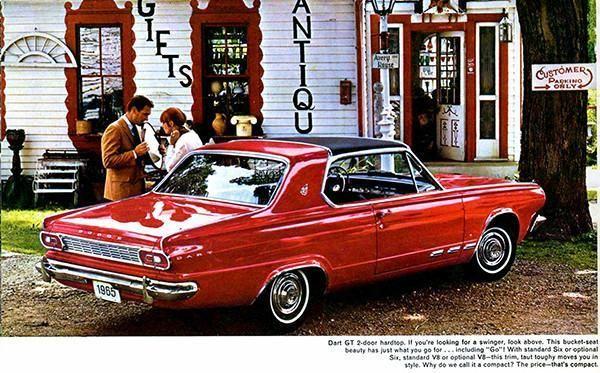 1965 Dodge Dart Gt Promotional Advertising Magnet Dodge Dart