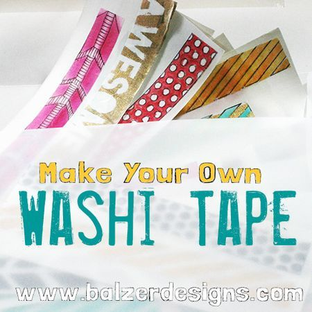 Make Your Own Washi Tape - (translucent & re-positionable using dry wax deli paper) tutorial by Julie Fei-Fan Balzer