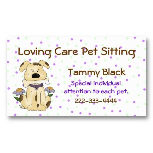 12 best images about pet sitting on pinterest cars for Pet business cards