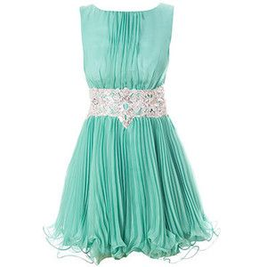 color, pleating, waistband and hem - pretty -- Quick, someone get married or throw a party! I want to wear this dress.