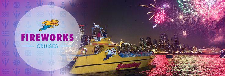 Chicago fireworks cruises on Lake Michigan aboard Seadog