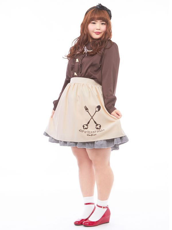 dreamv | Rakuten Global Market: [Spoon & fork original print ♪ flared skirt | PL | PP | |] ◆ outstanding stock