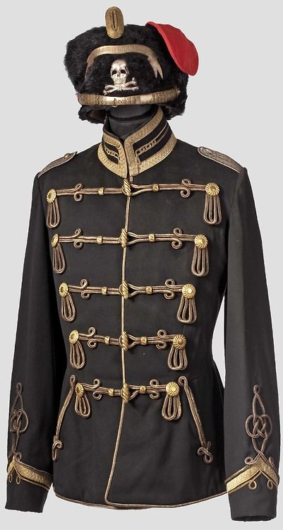 Germany; 1st Leib Hussars, 'Totenkopf'. Officer's Atilla. Home Depot; Danzig-Langfuhr. XVII Army Corps