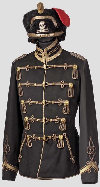 Prusia 1º Húsares Leib Totenkopf. Oficial