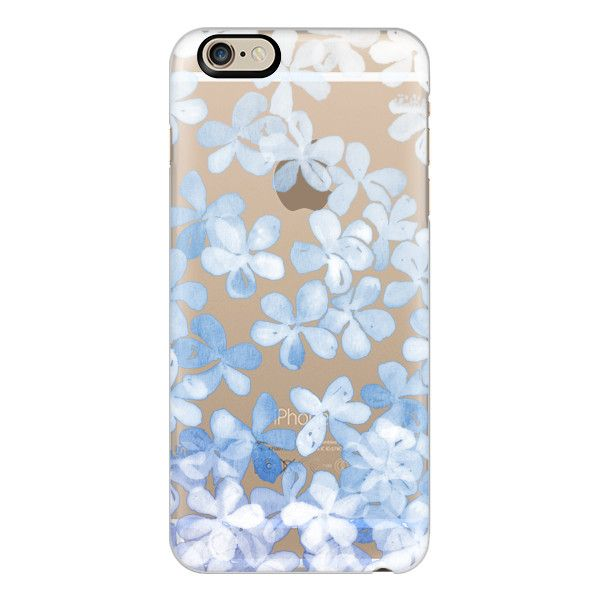 iPhone 6 Plus/6/5/5s/5c Case - Plumbago Blossoms - pastel blue & white... ($40) ❤ liked on Polyvore featuring accessories, tech accessories, phone cases, phone, cases, iphone, iphone cases, iphone cover case, iphone case and transparent iphone case