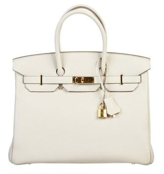 Craie (off Leather 35cm Birkin Handbag Ghw White Satchel | Hermes ...