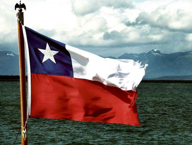 Lovely Chilean flag with a beautiful backdrop. I adore Chile's natural beauty. How is it possible to be homesick for a place I don't live? I guess it's just genetic homesickness.