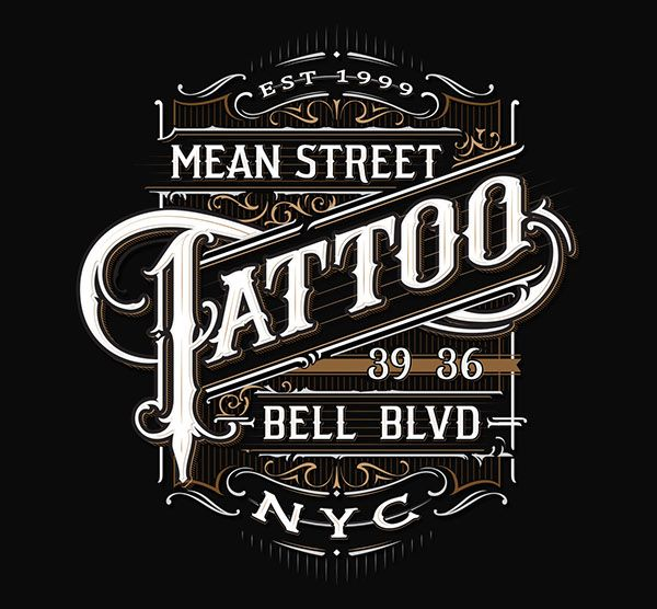 Tattoo Parlours on Typography Served