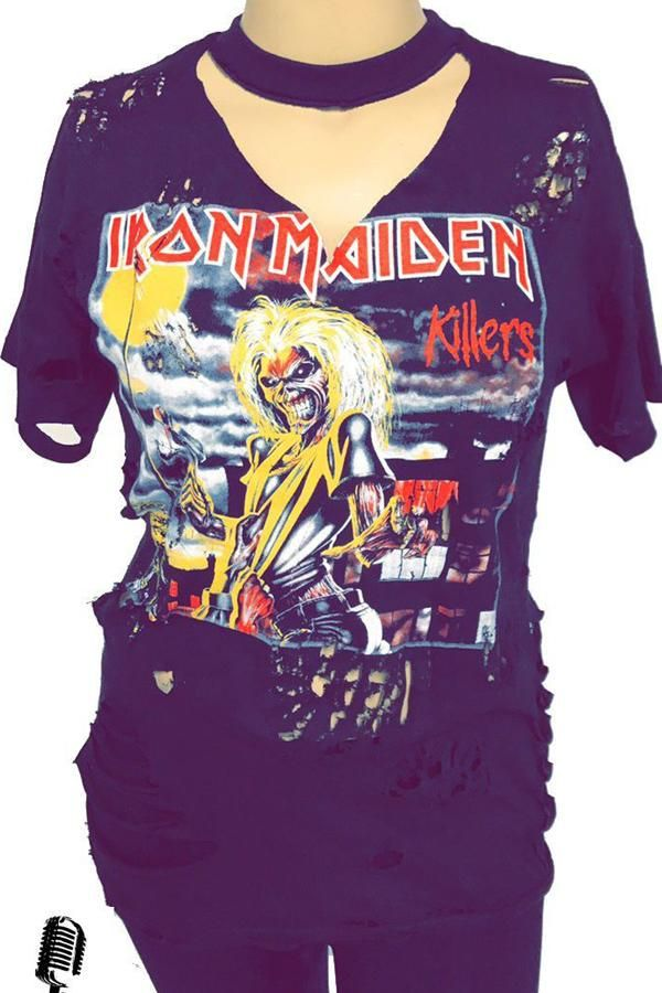 NEW /& OFFICIAL! Amplified Clothing Iron Maiden /'Bandages/' Womens T-Shirt