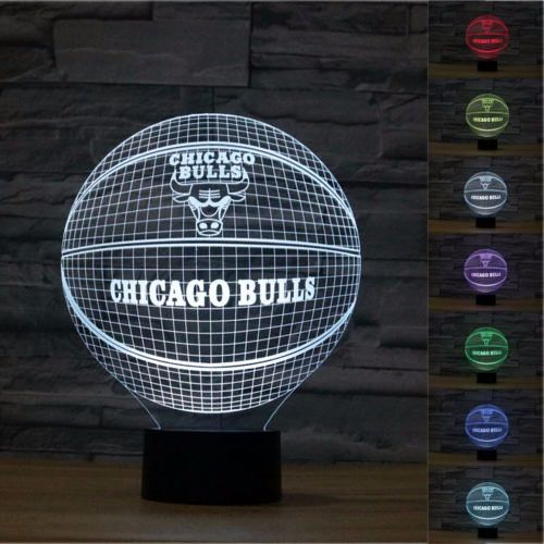 3D Illusion Chicago Bulls Basketball Lamp