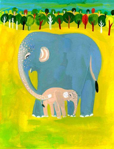 Elephants Art Print by Christopher Corr Easyart.com