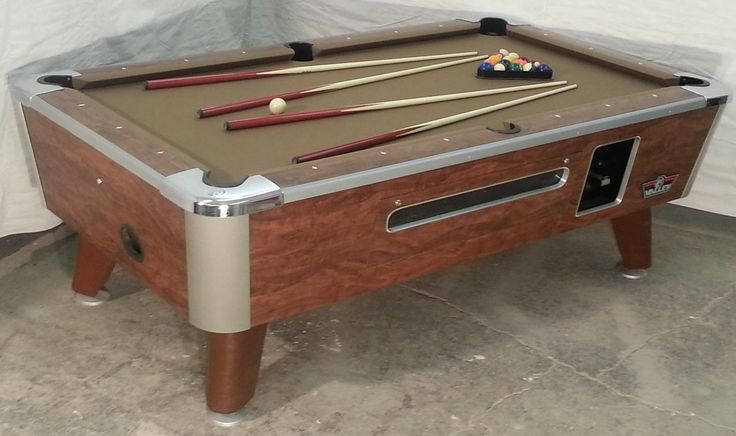 Valley Comm 7' Coin-op Bar Size Pool Table Model Zd-5 Refurb In Taupe Cloth