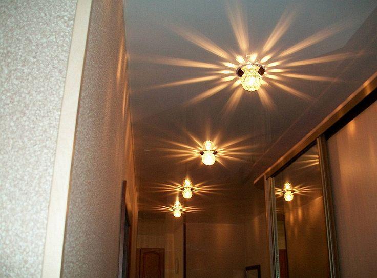 Натяжные потолки в коридоре: фото, разновидности, готовое решение