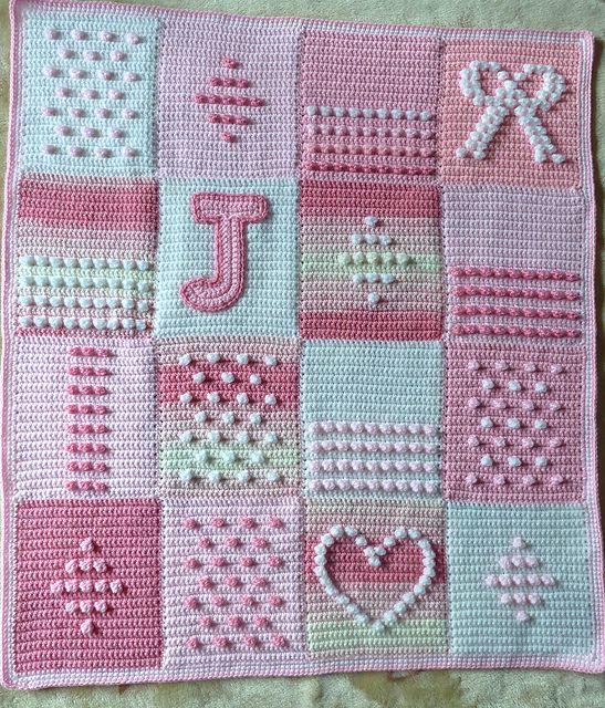 Ravelry: debbieredman's Pink shades bobbly blanket