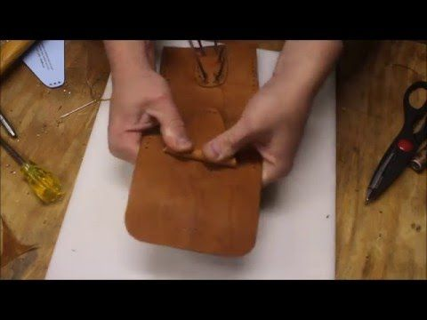 DIY Simple Leather Belt Pouch with FREE Pattern
