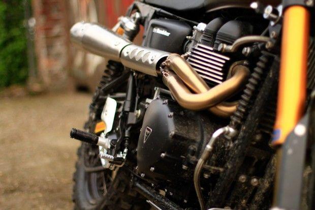 Tridays Custom Triumph Scrambler - The Triumph Rumbler