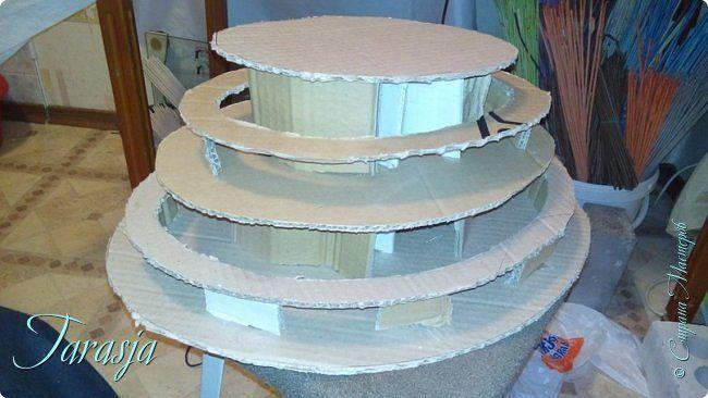 Мастер-класс Материалы и инструменты Моделирование конструирование Форма для плетения хлебниц Картон Картон гофрированный фото 2