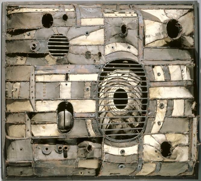 Lee Bontecou (American, b. 1931) - Welded steel, canvas and wire